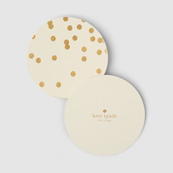 kate spade new york - Coaster Set, Gold Dots