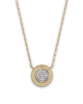 Bloomingdale's - Diamond Pavé Pendant Necklace in 14K Yellow & White Gold, .10 ct. t.w.- 100% Exclusive
