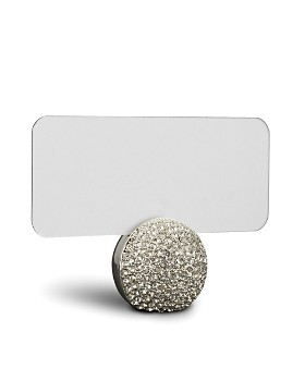 L'Objet - L'Objet Platinum Pave Sphere Place Card Holder, Set of 6