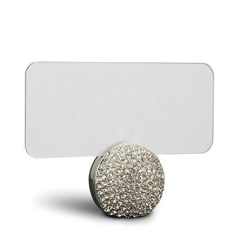 L'Objet - L'Objet Platinum Pave Sphere Place Card Holder, Set of 6
