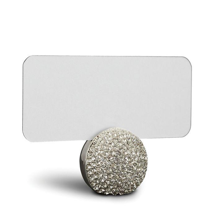 L'Objet - Platinum Pave Sphere Place Card Holder, Set of 6