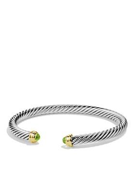 David Yurman - Cable Classics Bracelet with Peridot and Gold