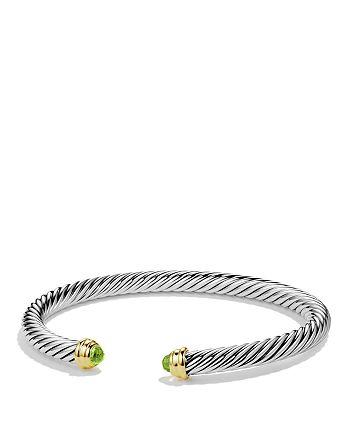 David Yurman - Cable Classics Bracelet with Peridot and Gold