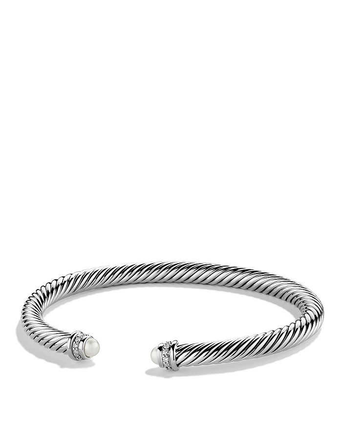 David Yurman - Cable Classics Bracelet with Pearls & Diamonds