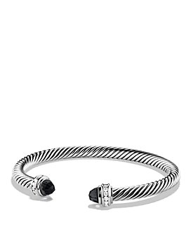 David Yurman - Sterling Silver Cable Classics Bracelet with Gemstones & Diamonds