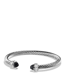 David Yurman - Sterling Silver Cable Classics Bracelet with Gemstones & Diamonds