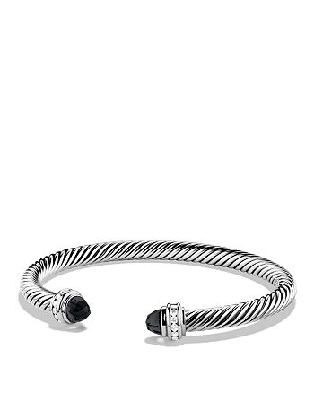 David Yurman - Cable Classics Bracelet with Black Onyx & Diamonds