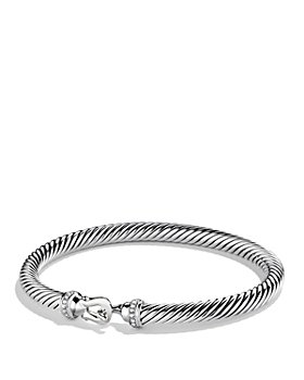David Yurman - Cable Buckle Bracelet with Diamonds, 5mm