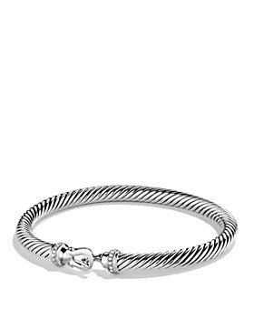 David Yurman - Cable Buckle Bracelet with Diamonds, 5mm