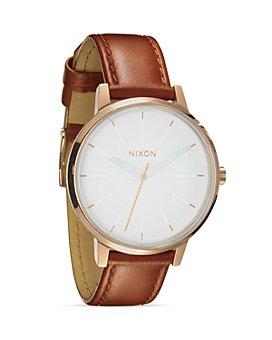 Nixon - The Kensington Leather Strap Watch, 37mm