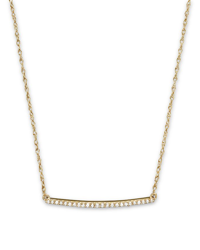 Bloomingdale's - 14K Yellow Gold Mini Diamond Bar Necklace, .10 ct. t.w.- 100% Exclusive