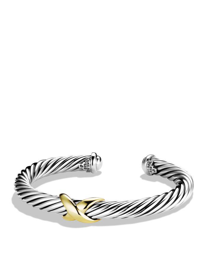 David Yurman X Bracelet with Gold    Bloomingdale's
