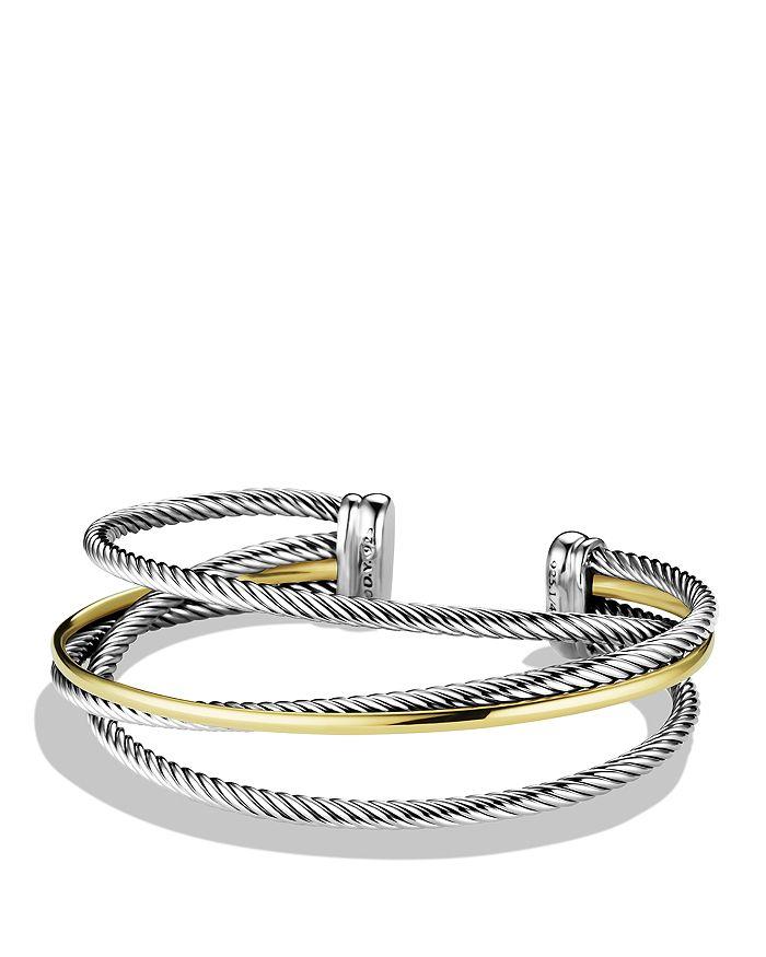 David Yurman - Crossover Three-Row Cuff with Gold