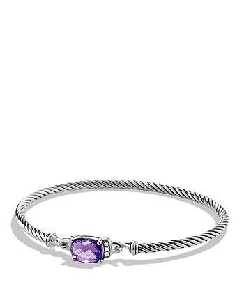 David Yurman - Petite Wheaton Bracelet with Amethyst and Diamonds
