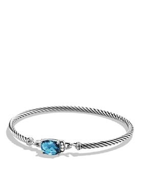 David Yurman - Petite Wheaton Bracelet with Hampton Blue Topaz and Diamonds