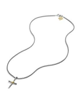 David Yurman - Petite X Cross with Gold on Chain