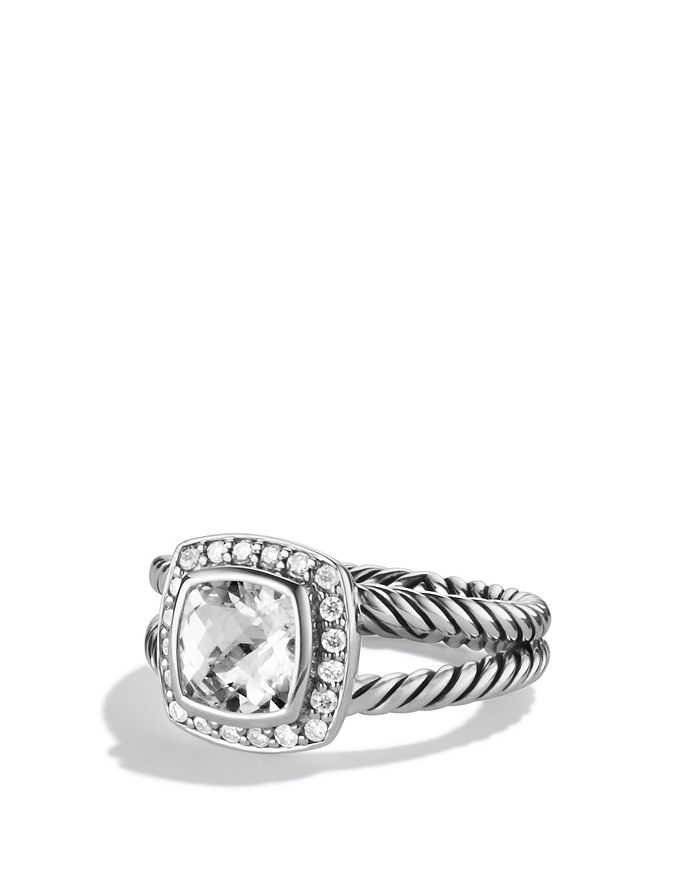 David Yurman - Petite Albion Ring with White Topaz & Diamonds