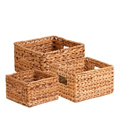 Honey Can Do - Honey Can Do Nesting Banana Leaf Baskets, Set of 3