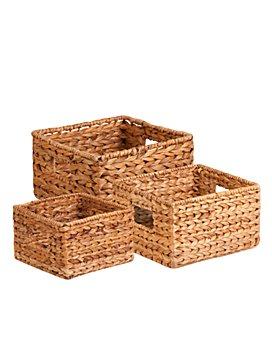 Honey Can Do - Honey Can Do Nesting Banana Leaf Baskets, Set of 3