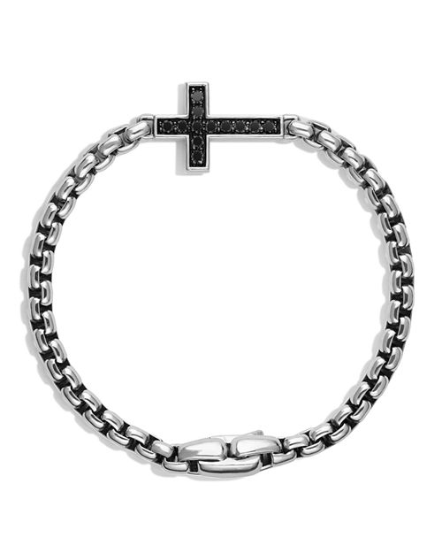 David Yurman - Pavé Cross Bracelet with Black Diamonds