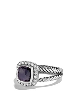 David Yurman - Petite Albion Ring with Black Orchid & Diamonds