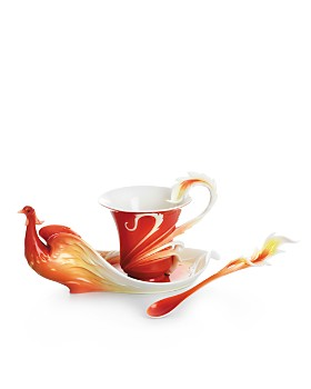 Franz Collection - Franz Collection Phoenix in Flight Cup & Saucer with Spoon
