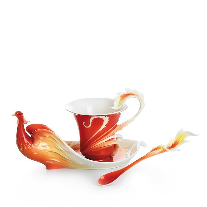 Franz Collection - Phoenix in Flight Cup & Saucer with Spoon