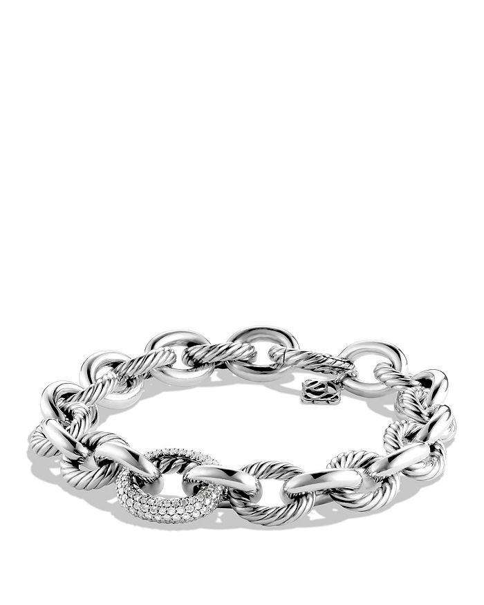 David Yurman - Oval Large Link Bracelet with Diamonds, .80 ct. t.w.