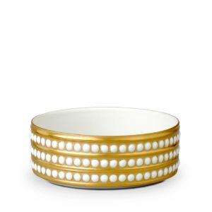 L'Objet Perlee Gold 5 Vertical Bowl