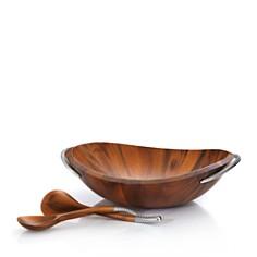 Nambé - Nambé Braid Collection Salad Bowl & Servers