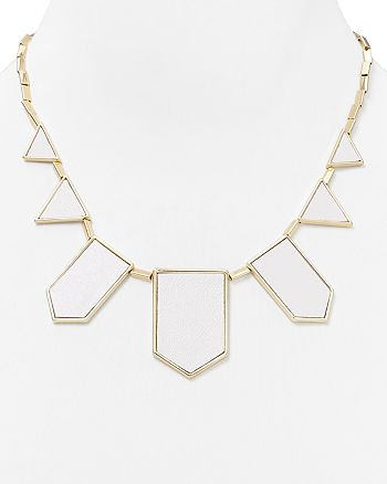House of Harlow 1960 - Leather Station Necklace, 18""