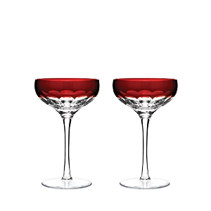 Waterford Talon Red Coupe Glass, Set of 2