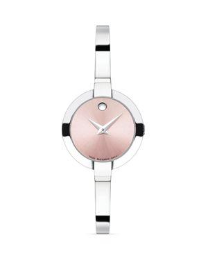 Bela Stainless Steel Bangle Bracelet Watch/Pink