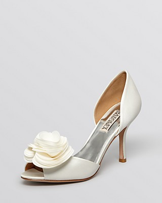 Womens Shoes Badgley Mischka Thora White Satin