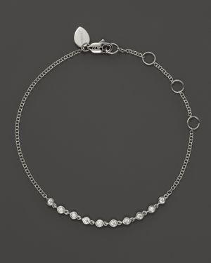 Meira T 14K White Gold Diamond Bezel Bracelet