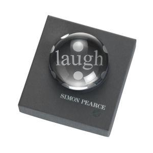 Simon Pearce Laugh Paperweight