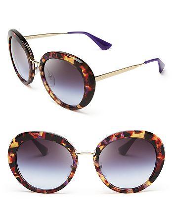 Prada - Women's Round Oversized Sunglasses