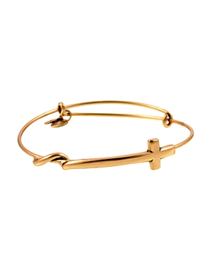 Alex and Ani Cross Wrap Expandable Wire Bangle