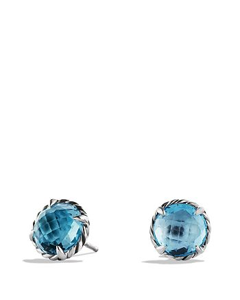 David Yurman - Châtelaine Earrings with Blue Topaz