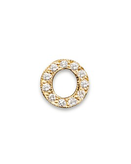 Zoë Chicco - 14K Yellow Gold Pavé Initial Single Stud Earring, .04-.06 ct. t.w.