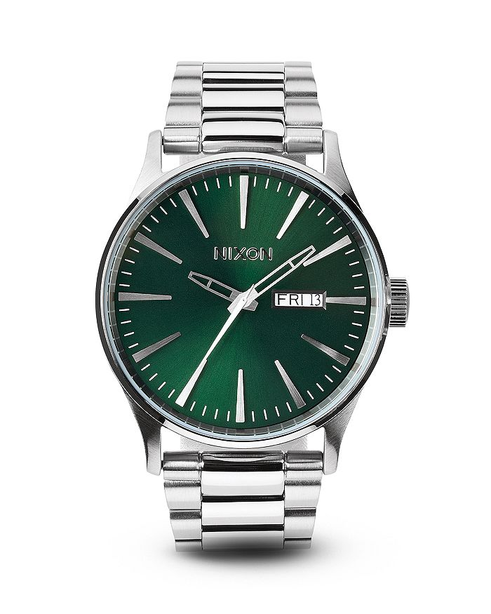 Nixon Watches THE SENTRY STAINLESS STEEL WATCH, 42MM