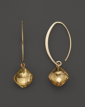 14K Yellow Gold Simple Sweep Earrings with Citrine - 100% Exclusive