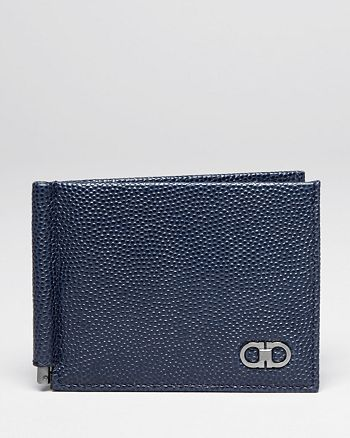 Salvatore Ferragamo - Ten-Forty On Pebbled Leather Money Clip Wallet