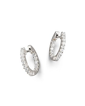 Bloomingdale's - Diamond Inside Out Hoop Earrings in 14K White Gold, .30 ct. t.w. - 100% Exclusive