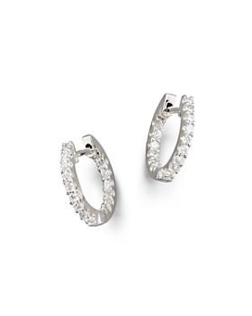 Bloomingdale S Diamond Inside Out Hoop Earrings In 14k White Gold 30 Ct