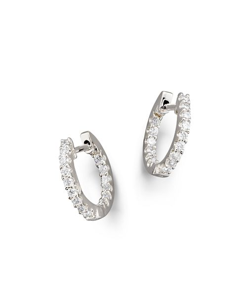Bloomingdale's - Diamond Inside Out Hoop Earrings in 14K White Gold, .30 ct. t.w.- 100% Exclusive