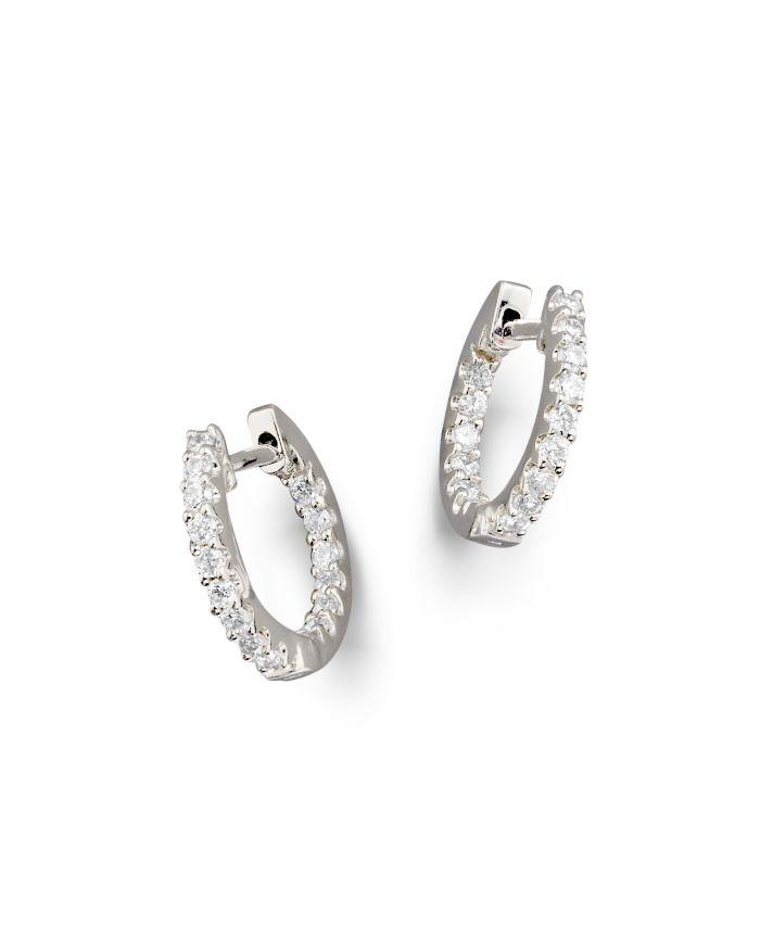 Bloomingdale's Diamond Inside Out Hoop Earrings in 14K White Gold, .30 ct. t.w.  | Bloomingdale's