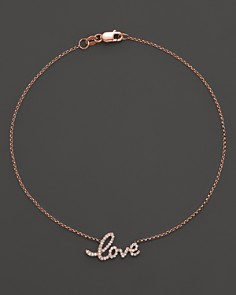 KC Designs Diamond Love Ankle Bracelet in 14K Rose Gold, .16 ct. t.w. - Bloomingdale's_0