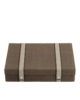 Reed & Barton - Brown Woven Silverware Chest