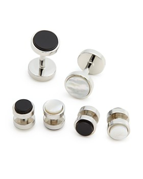 The Men's Store at Bloomingdale's - Polished Rhodium Reversible Stud and Cufflink Set - 100% Exclusive